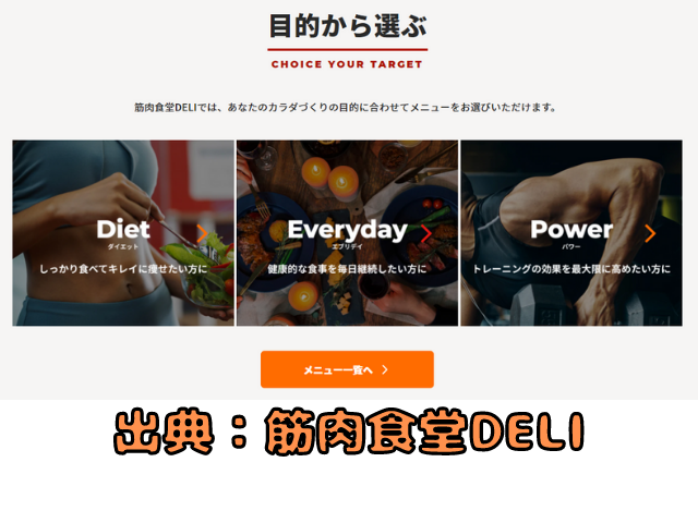 筋肉食堂DELI 3コースの説明写真